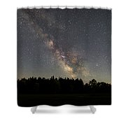 Milky Way Rising  Shower Curtain