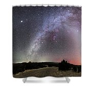Milky Way, Zodiacal Light And Other Shower Curtain