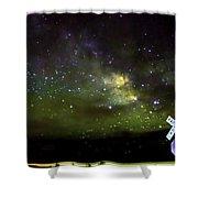Milkyway  Crossing Blur Shower Curtain