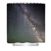 Milkyway Over Stonehenge Shower Curtain