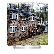 Mill Along The Delaware River In West Trenton Shower Curtain
