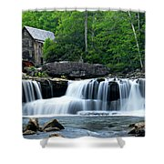 Mill And Waterfall Shower Curtain