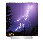 Mill Creek Lightning Shower Curtain
