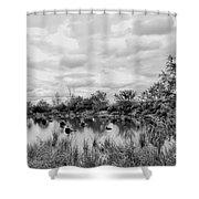 Mill Creek Marsh Serenity Shower Curtain