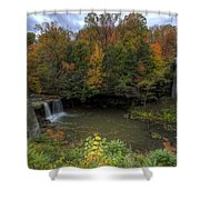 Mill Creek Park In Autumn Shower Curtain