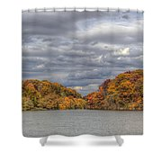Mill Creek Park In Fall Shower Curtain