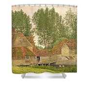 Mill On The Thames At Mapledurham, 1860 Shower Curtain