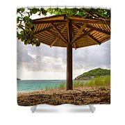 Mill Reef Beach Hut Shower Curtain