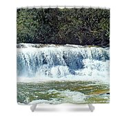 Mill Shoals Waterfall During Flood Stage Shower Curtain