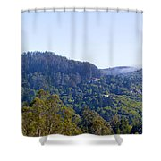 Mill Valley Ca Hills With Fog Coming In Left Panel Shower Curtain