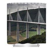 Millau Viaduct In France Shower Curtain