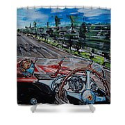 Mille Miglia On Board With Peter Collins Shower Curtain