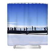 Millenium Bridge London Shower Curtain