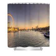 Millenium Wheel Dusk  Shower Curtain