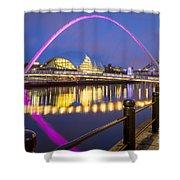Millennium Bridge - Gateshead Shower Curtain