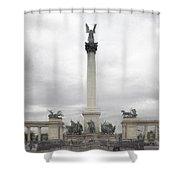 Millennium Monument Budapest Shower Curtain