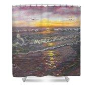 Miller Ocean Sunset Shower Curtain
