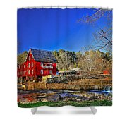 Historic Millmore Mill Shoulder Bone Creek Shower Curtain