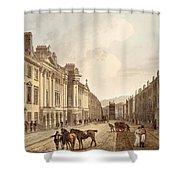 Milsom Street, From Bath Illustrated Shower Curtain