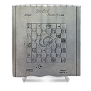 Milton Bradley Life Game Patent Shower Curtain