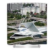 Milwaukee Art Museum Aerial Shower Curtain