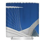 Milwaukee Art Museum Closeup 1 Shower Curtain