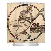 Milwaukee Brewers Vintage Art Shower Curtain