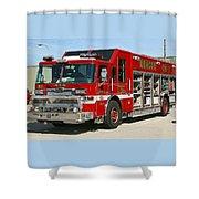 Milwaukee Fire Dept. Rescue 1  Shower Curtain