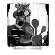 Milwaukee In Abstract Shower Curtain