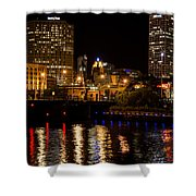 Milwaukee River And Downtown Skyline Shower Curtain