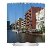 Milwaukee River Architechture 1 Shower Curtain