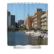 Milwaukee River Architecture 2 Shower Curtain