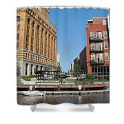 Milwaukee River Architecture 5 Shower Curtain