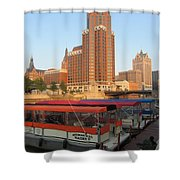 Milwaukee River Theater District 5 Shower Curtain