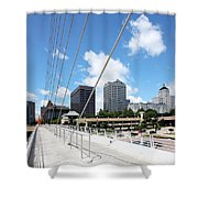 Milwaukee Wisconsin Skyline Shower Curtain