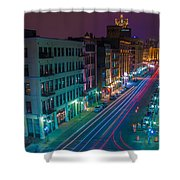 Milwaukee's Evening Active Glow Shower Curtain