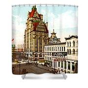 Milwaukee's Wisconsin Street 1899 Shower Curtain