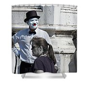 Mime In Venice Shower Curtain