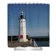 Mimicking A Lighthouse Shower Curtain