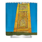 Minaret For Call To Prayer In Tangiers-morocco Shower Curtain