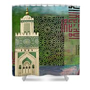 Minaret Of Hassan 2 Mosque Shower Curtain