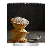 Mince Pie Stack Shower Curtain