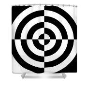 Mind Games 3 Panoramic Shower Curtain