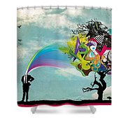 Mind Outburst Shower Curtain