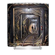 Mine Shaft Mural Shower Curtain