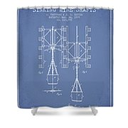 Mine Shaft Safety Device Patent From 1899 - Light Blue Shower Curtain