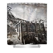 Mine Structure In Silver City Shower Curtain