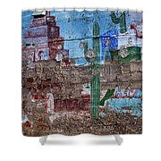 Miner Wall Art 3 Shower Curtain