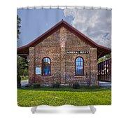 Mineral Bluff Station Shower Curtain by Debra and Dave Vanderlaan