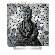 Mineral Buddha Shower Curtain